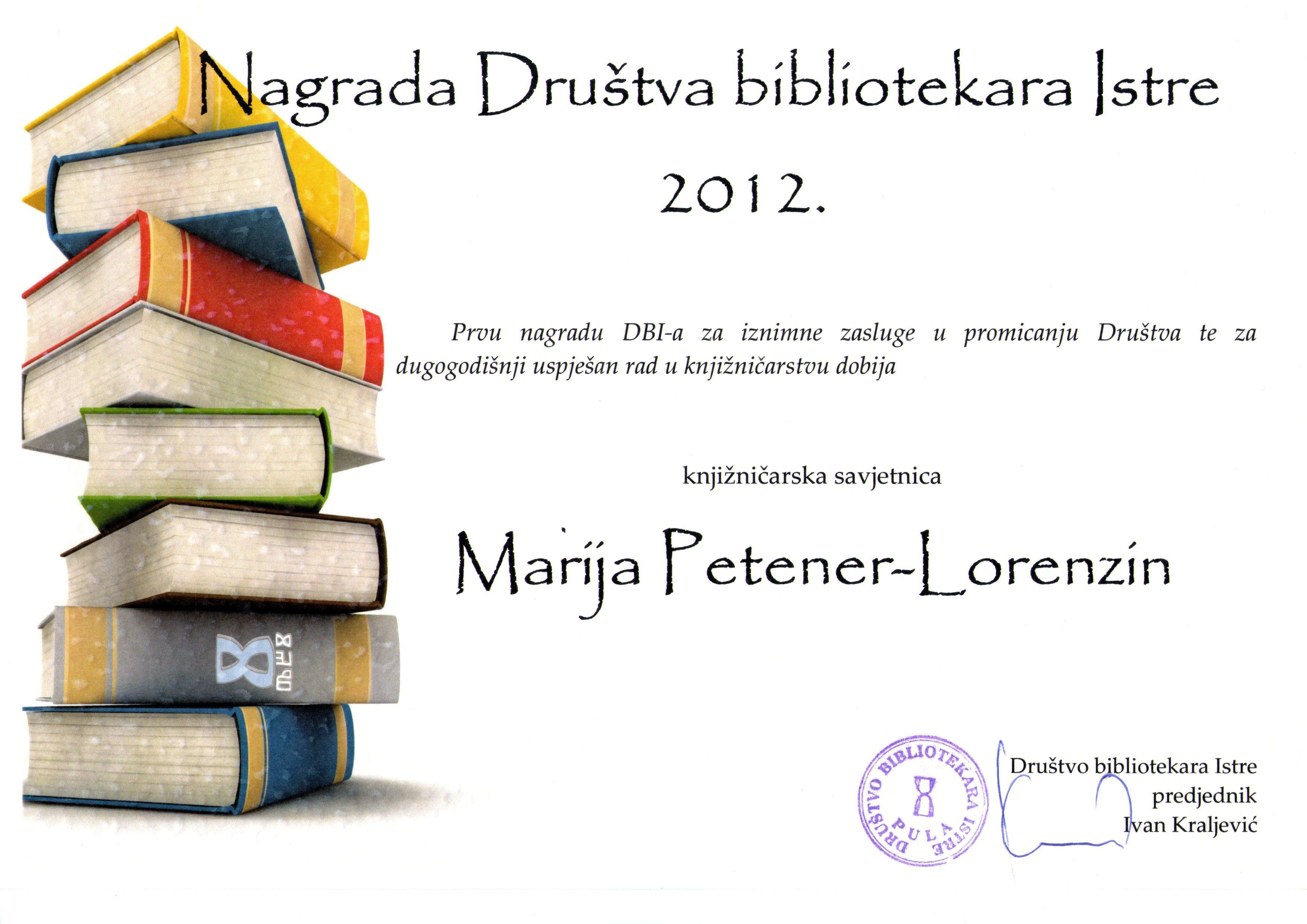 nagrada dbi 2012